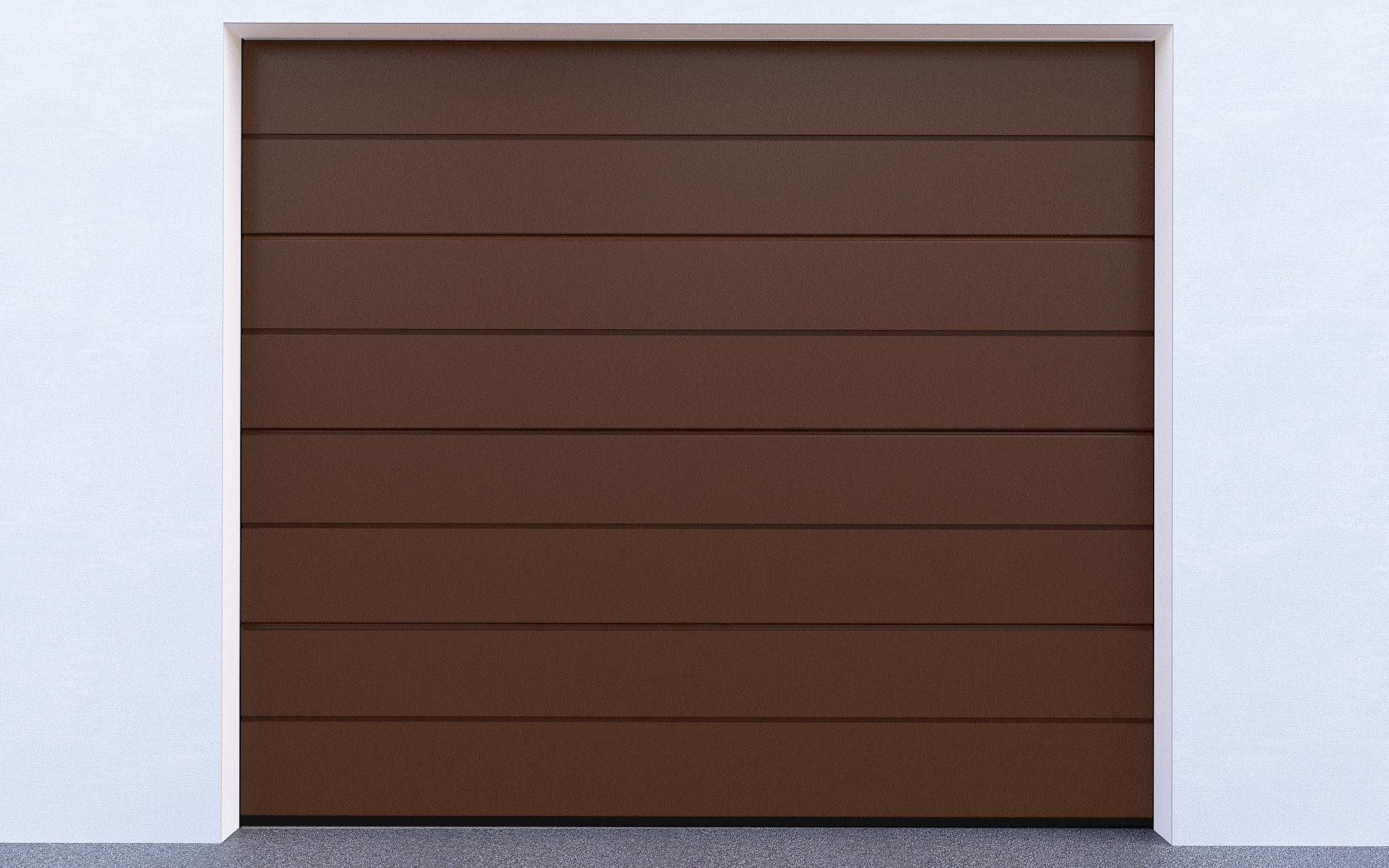 Sekční garážová vrata - Hnědá (Sekční garážová vrata)