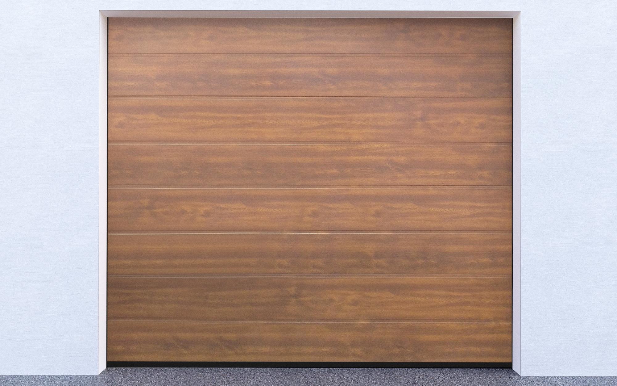 Sekční garážová vrata - Zlatý dub (Sekční garážová vrata)